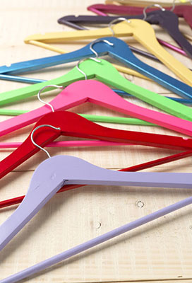 Project Inspiration: Colour Coded Coat Hangers
