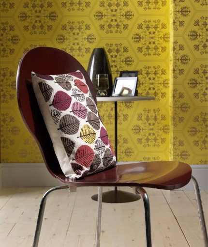 Painter's Touch - Claret Wine Retro Chair