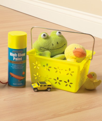 High Glow Paint - High Glow Paint Yellow Toy Box