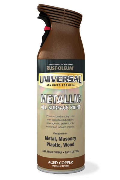 Universal Metallic All-Surface Spray Paint Aged Copper