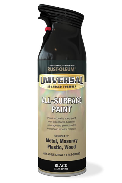 Universal All-Surface Spray Paint Black Gloss