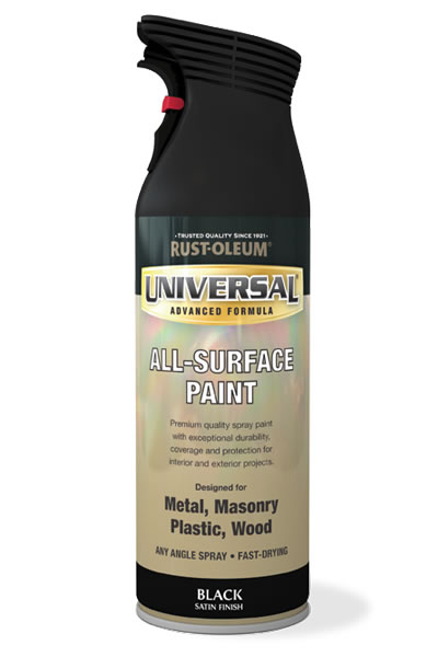 Universal All-Surface Spray Paint Black Satin