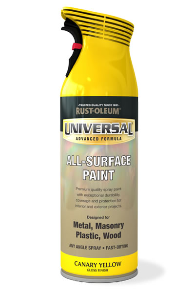Universal All Surface Spray Paint Canary Yellow