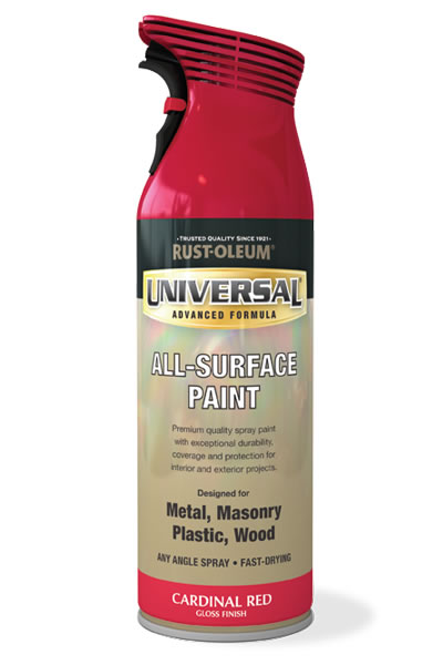 Universal All Surface Spray Paint Cardinal Red