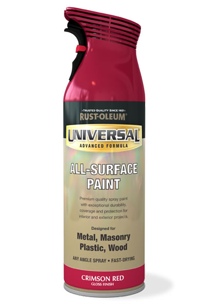Universal All Surface Spray Paint Crimson Red