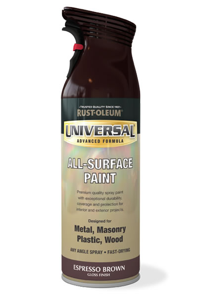 Universal All Surface Spray Paint Espresso Brown