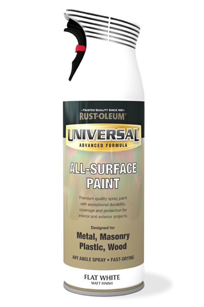 Universal All Surface Spray Paint Flat White