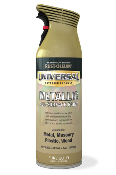 Universal Metallic All-Surface Spray Paint Pure Gold