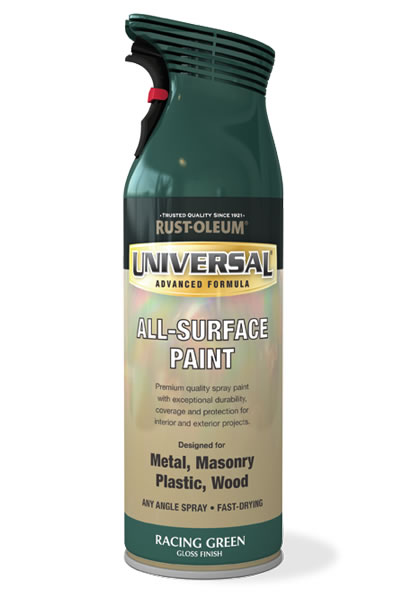 Universal All Surface Spray Paint Racing Green
