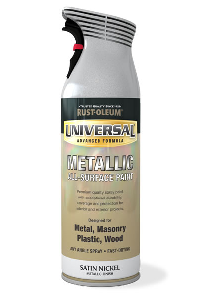 Universal Metallic All-Surface Spray Paint Satin Nickel