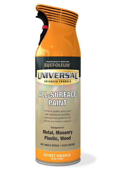 Universal All Surface Spray Paint Sunset Orange