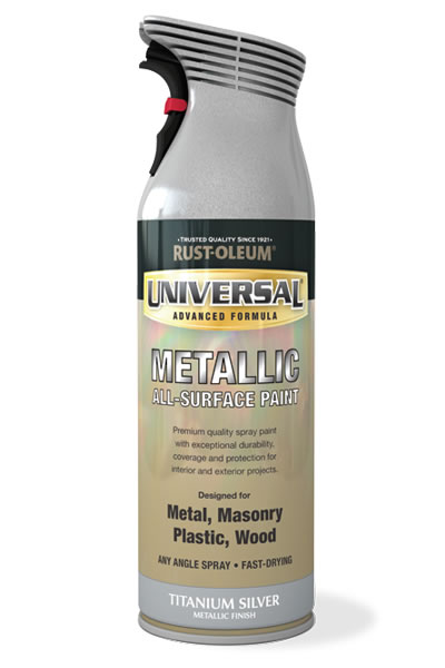 Universal Metallic All-Surface Spray Paint Titanium Silver