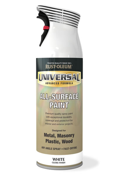 Universal All Surface Spray Paint White Gloss