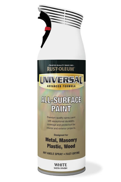 Universal All Surface Spray Paint White Satin