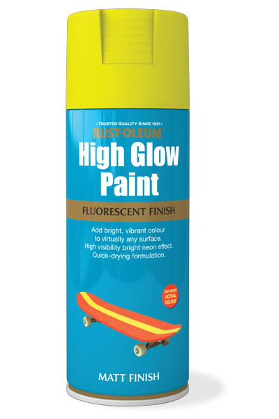 High Glow Paint Yellow Matt