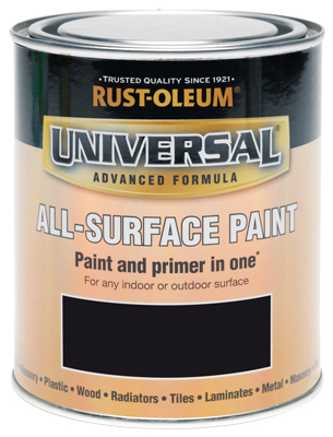 Universal All-Surface Paint Satin Black