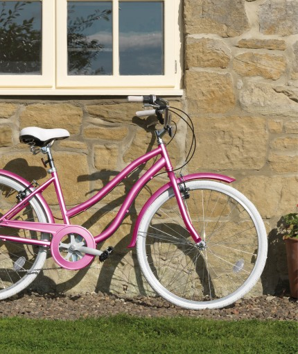 Coloured Metallic - Coloured Metallic Pink Bicycle