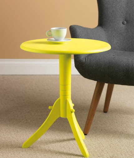 Neon (Brush) - Neon Yellow Table