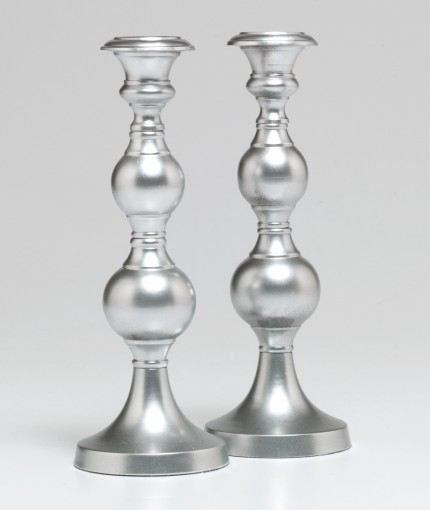 Universal Metallic Paint (Brush) - Universal Metallic Silver Candle Sticks