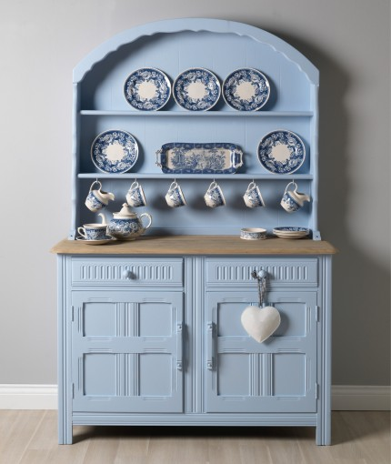 Chalky Finish Furniture Paint - Powder Blue Welsh Dresser