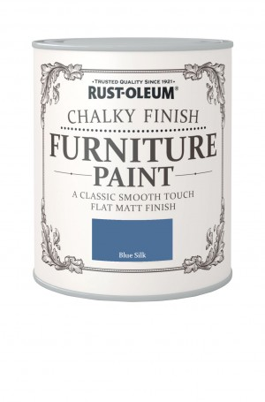 Chalky Finish Furniture Paint Blue Silk