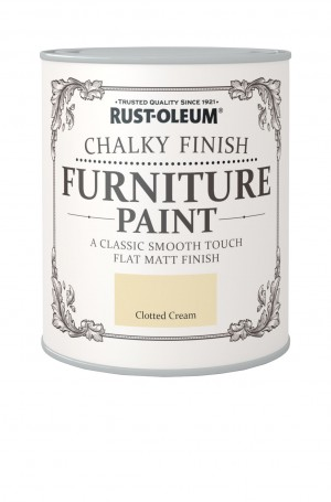 Chalky Finish Furniture Paint Clotted Cream