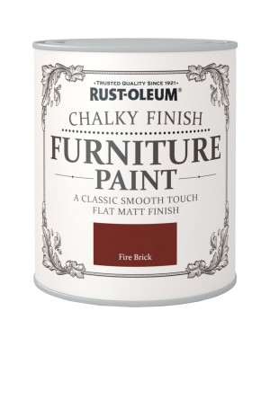 Chalky Finish Furniture Paint Fire Brick