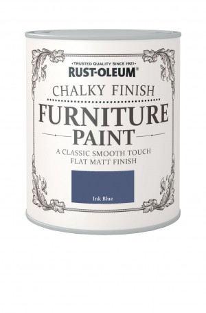 Chalky Finish Furniture Paint Ink Blue