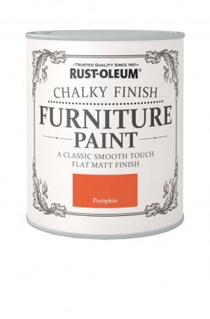 Chalky Finish Furniture Paint Pumpkin