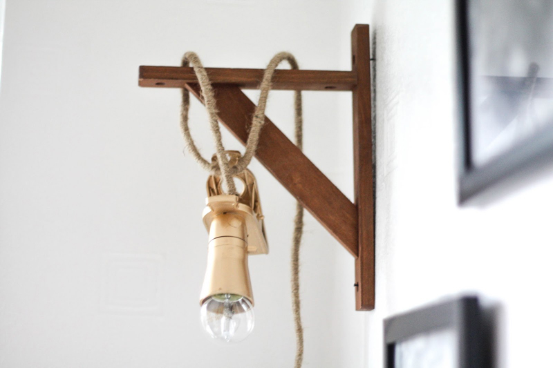 DIY hanging cord lamp