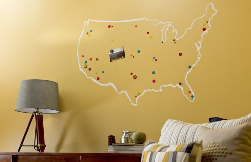 magnetic primer wall map