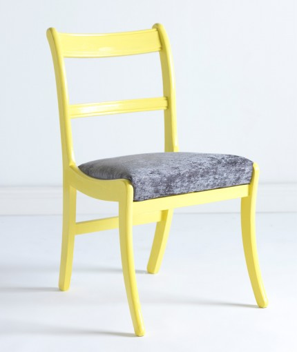 Gloss Finish Furniture Paint   Lemon Sorbet Chair ...