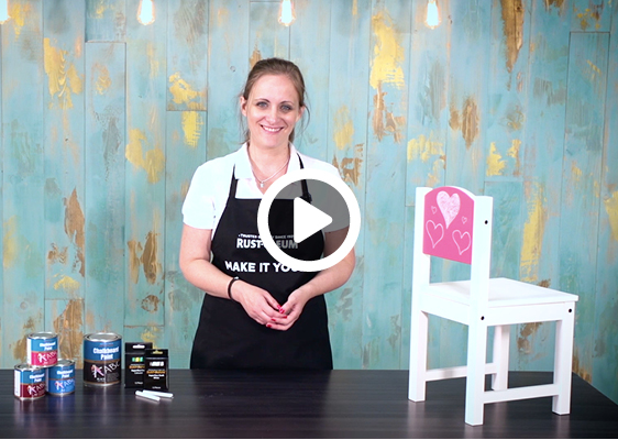 How To Add Fun Chalkboard Detail To A Chair
