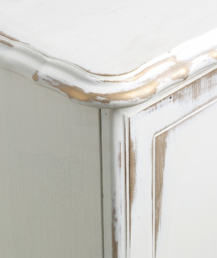 Metallic Finish Furniture Paint - Antique White & Gold Sideboard
