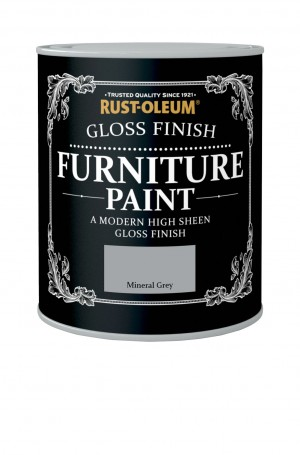 Gloss Finish Furniture Paint Mineral Grey