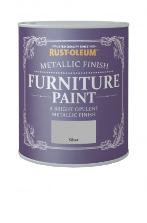 Metallic Finish Furniture Paint Silver