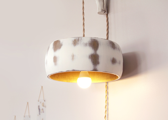 How to repurpose a wooden bowl into a lamp shade