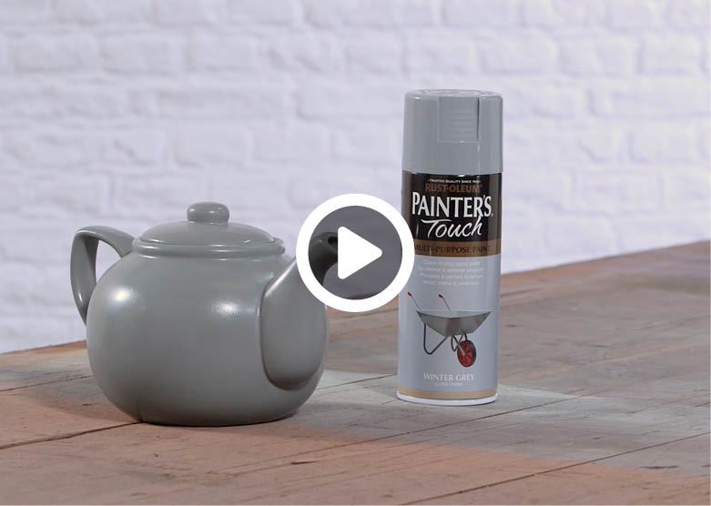 MAKE IT YOURS: HOW TO SPRAY PAINT A TEAPOT