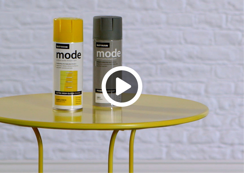 make it yours how to spray paint a metal table. Black Bedroom Furniture Sets. Home Design Ideas