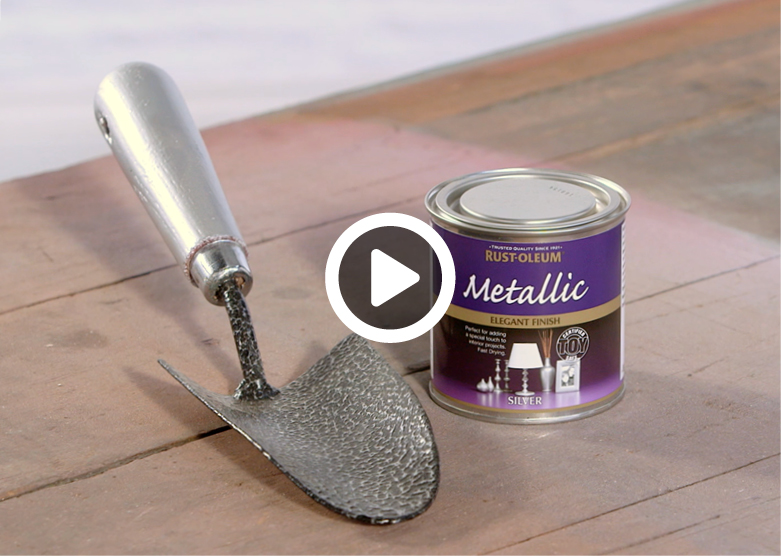 make it yours how to spray paint a garden trowel. Black Bedroom Furniture Sets. Home Design Ideas