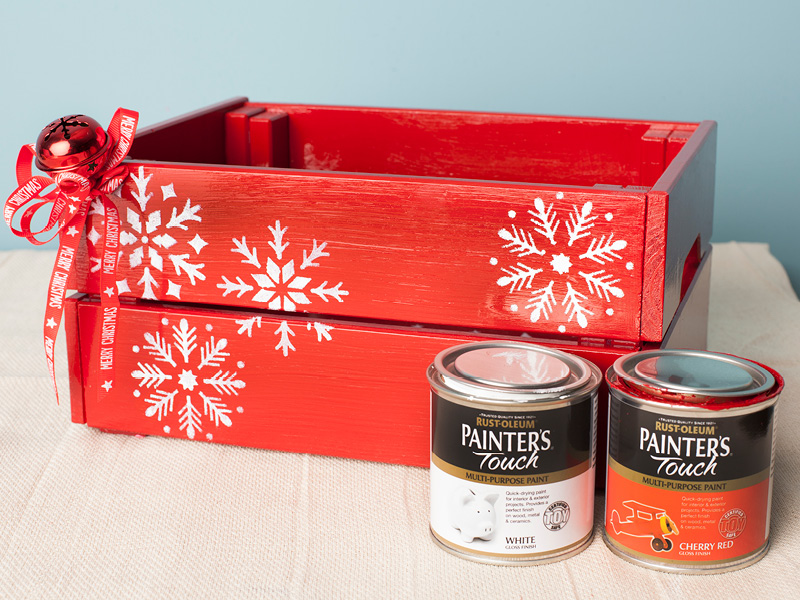 Christmas Eve Crate.How To Make A Christmas Eve Crate Box Rustoleum Spray Paint