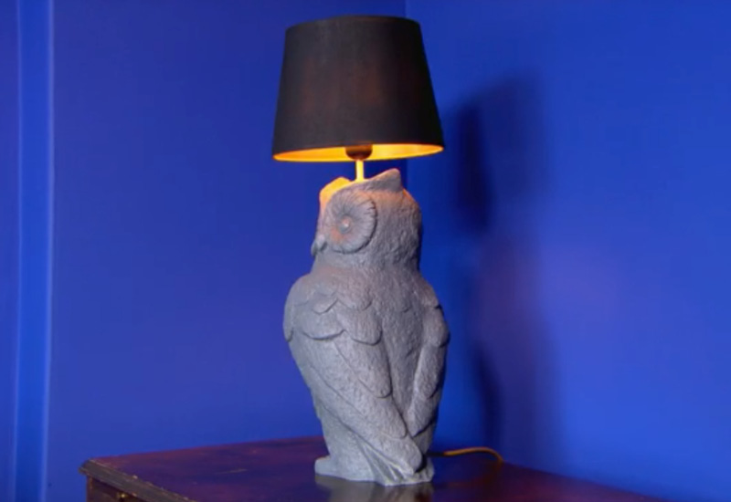 Rob Fawcett Grey Owl Lamp