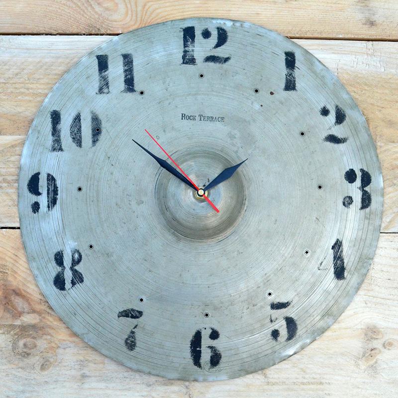 Large Vintage Cymbal Clock