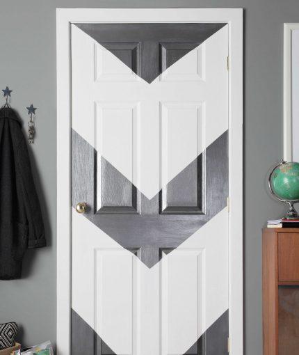 Gun Metal Metallic Spray Paint - Metallic-Gun-Metal-Door