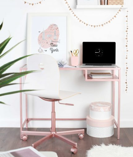 Rose Gold Metallic Spray Paint - Metallic-Rose-Gold-Desk
