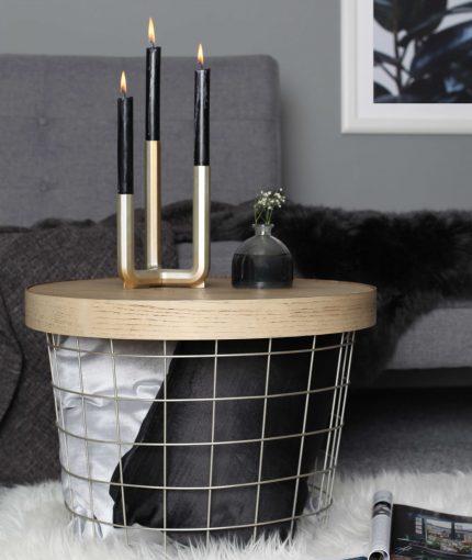 White Gold Metallic Spray Paint - Metallic-White-Gold-Basket-Table