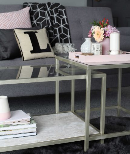 White Gold Metallic Spray Paint - Metallic-White-Gold-Coffee-Table