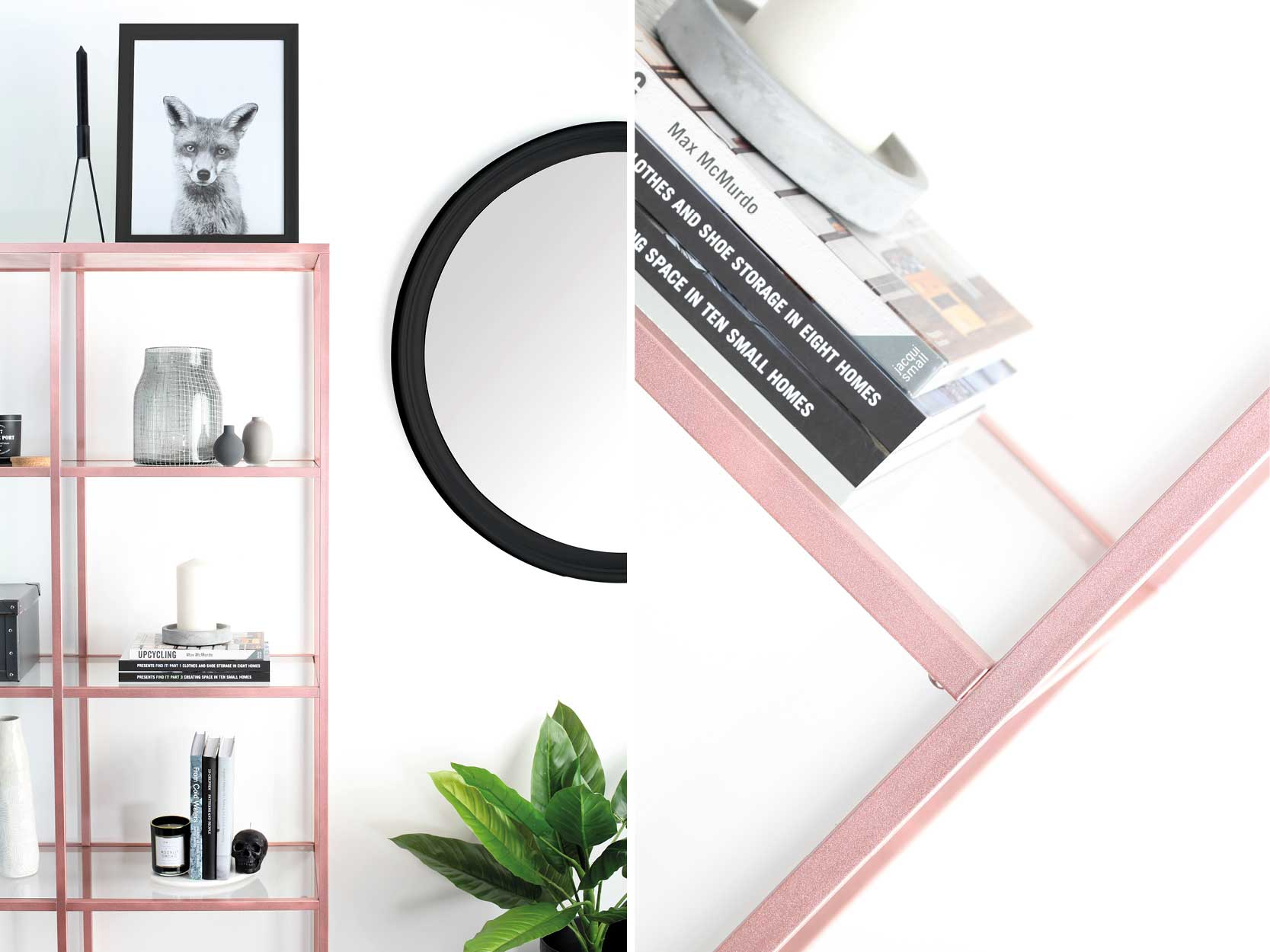 Metallic-Rose-Gold-Shelving