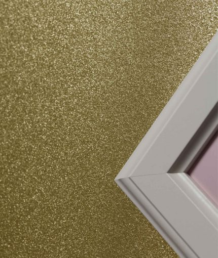 Glitter Feature Wall - Gold-Glitter-Wall-Close-Up