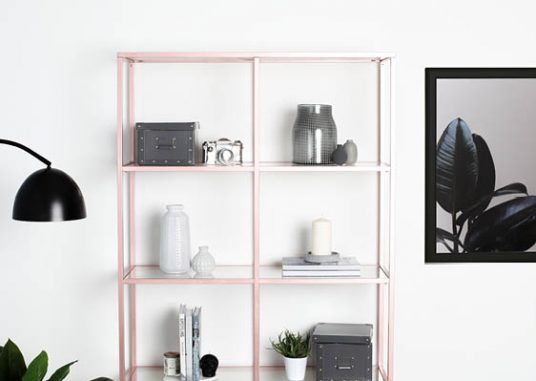 Rose Gold Shelving